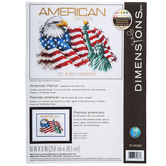 American Patriot Counted Cross Stitch Kit