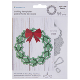 Wreath With Bow Dies