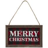 Merry Christmas Buffalo Check Ornament