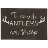 I Count Antlers Wood Wall Decor