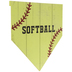 Softball Home Plate Wood Wall Decor