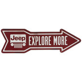 Jeep Arrow Metal Sign