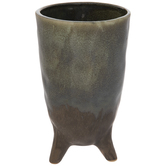 Speckled Green & Gray Vase