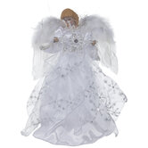 Angel Holding Snowflake Tree Topper