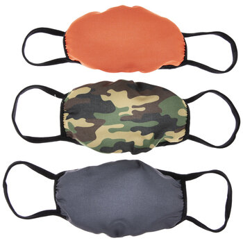 Solids & Camo Boys Face Masks