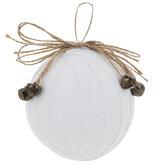 White Twill Ribbon Ball Ornaments