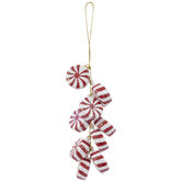 Peppermint Cluster Ornament