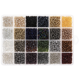 Neutral & Metallic Round Glass Seed Beads - 6/0