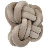 Tan Velvet Knot Pillow