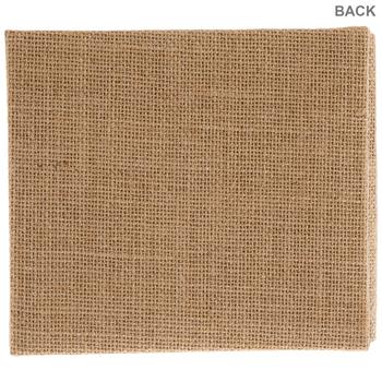 """Burlap Post Bound Scrapbook Album - 6"""" x 6"""""""