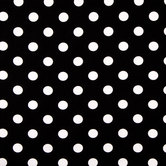 Black & White Polka Dot Cotton Calico Fabric