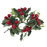 Holly Berry Candle Rings