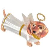 Angel Dachshund Dog Ornament