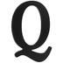 Black Wood Letter - Q