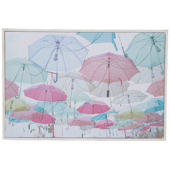 Hanging Umbrellas Wood Wall Decor
