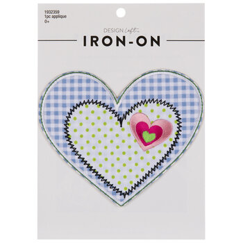 Patchwork Heart Iron-On Applique