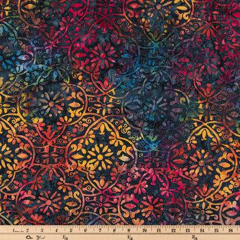 Rainbow Stamp Batik Cotton Calico Fabric