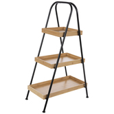 Three-Tiered Bamboo Plant Stand