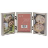"""Ridged Metal Folding Collage Frame - 2"""" x 3"""""""