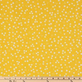 Mustard Mini Flower Apparel Fabric