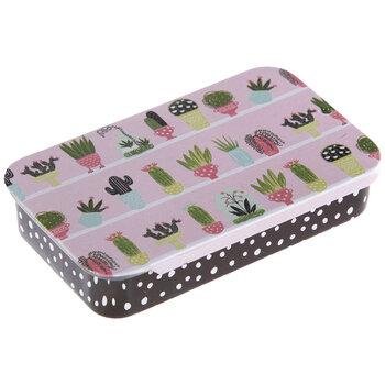 Cactus Tin Needle Box