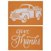 Give Thanks & Pumpkin Truck Stencils