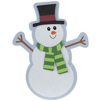 Snowman Painted Wood Shape
