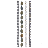 Gray & Green Glass Bead Strands