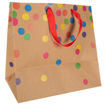 Confetti Kraft Gift Bag