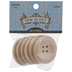 Natural Wood Round Buttons - 40mm