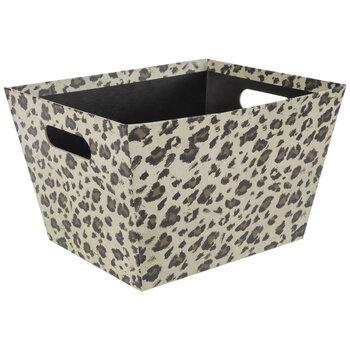 Beige & Brown Leopard Print Container
