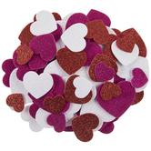 Glitter Heart Foam Stickers