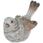 White & Brown Bird Facing Right