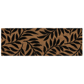 Black Leaves Coir Doormat