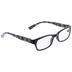 2.50+ Black, Gray & White Geometric Reading Glasses