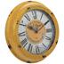 Antique Yellow Metal Wall Clock