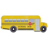 School Bus Painted Wood Shape