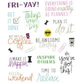 Work Week Phrases Stickers