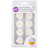 White Rose Icing Decorations