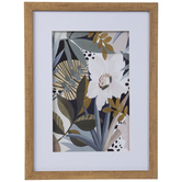 Floral Symphony Framed Wall Decor