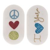 I Love Yarn Erasers