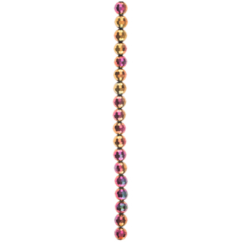 Rose Faceted Glass Bead Strand