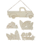 Truck Wood Wall Decor With Interchangeable Pieces