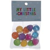 Assorted Glitter Gum Drop Ornaments