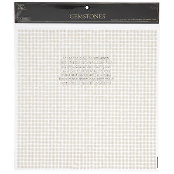 Pearl Rhinestone Sticker Sheet