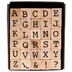 Uppercase Alphabet Vintage Type Rubber Stamps
