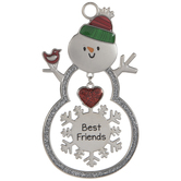 Best Friends Snowman Ornament
