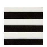 Black & White Striped Napkins - Large