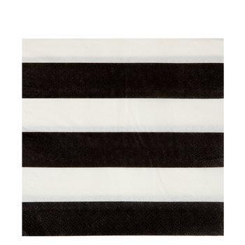 Black & White Striped Napkins