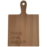 Peace, Love & Joy Wood Cutting Board
